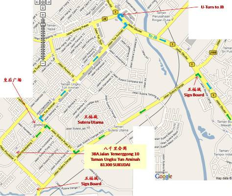 Map of Eight Ways Main Meditation Centre